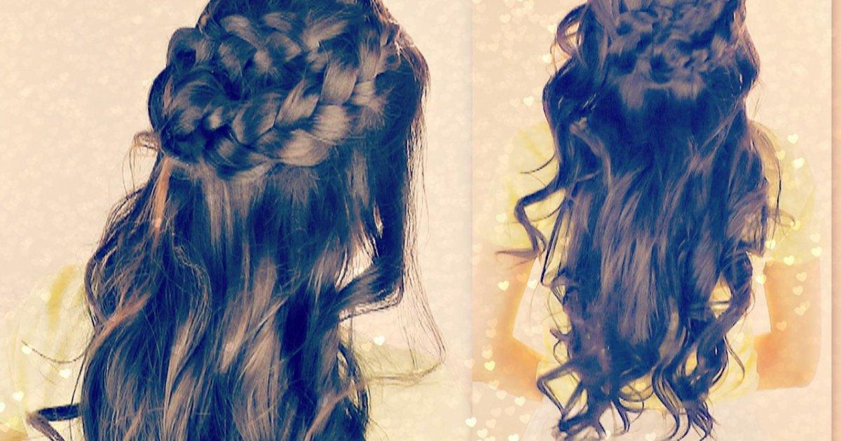 Hairstyles Braids Half Up: BRAIDED HALF- UP UPDOS FOR SCHOOL