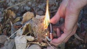 Sakız Jelatini ve Kalem Pil ile Ateş Nasıl Yakılır ?