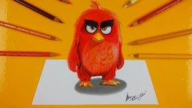 3d Angry Bird Çizimi | Çizim Nasıl Yapılır ?