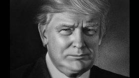 Kara Kalem Donald Trump Çizimi