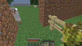 Minecraft Hayvan Çitligi Pembe Koyun Ve İnek Yapımı