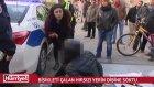 Bisikletini Çalan Hırsızı Yerin Dibine Sokan Kadın