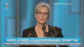 Trump'tan Meryl Streep'e Anında Yanıt