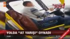 Direksiyon Başında At Yarışı Oynayan Otobüs Şoförü