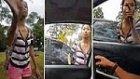 Araç İçindeki Kadına Terörist Diyerek Saldıran Asyalı Kadın