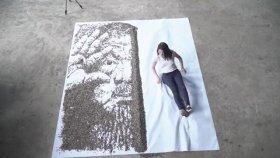 20 Bin Çekirdek İle Portre Yapan Sanatçı
