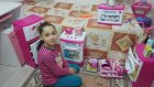 Tostçu Melike Barbie Mutfak Serisi İle Evcilik Oynuyor | Barbie Buzdolabı | Barbie Ocaklı Fırın