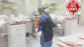 Antalya'da hastanede yoğun bakımda göbek atıp halay çektiler
