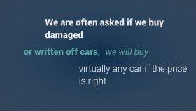 Damaged Written Off Cars