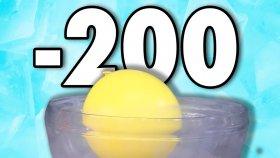 Sıvı Nitrojenle Balonları Dondurduk ( - 200 Derece )