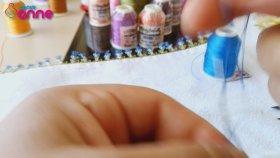 İğne Oyası 3 Yaprak Modeli Yapımı , Havlu Kenarı Modeli - 10 / Canım Anne
