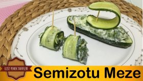 Semizotu Meze Tarifi | Semizotlu Salatalık Rulo Meze