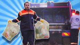 Melih Bir Günlüğüne Çöpçü Oldu | Çöp Kamyonu ile Çöp Topladı