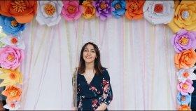 Kağıttan Dev Çiçek Yapımı / Giant Paper Flower DIY