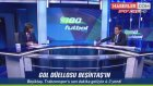 Trabzonsporlu Rodallega'nın Orta Sahadan Şutu Üst Direğe Çarptı