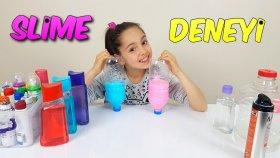 Pet Şişe İçinde Çok Pratik Slime Yaptık Süper Oldu | Slime Deneyi | İstek video