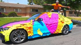 Annesinin Arabasını 100 , 000 Sticker ile Kaplayan Şakacı