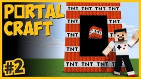 Tnt Dünyasını Patlattım   Taş Dünyası , Yün Dünyası Ve Tnt Dünyasına Gittim - Portalcraft #2