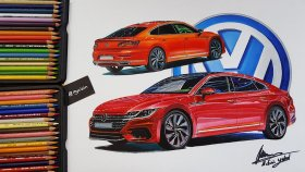 16 Saat Süren Volkswagen Arteon Çizimi