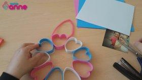 Anneler Günü Kalpli Kapı Süsü Çerçeve Yapımı
