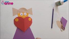 Kağıt ile Kalp Motifli Kız Yapılışı - Anneler Günü için Hediye Fikri - Kendin Yap - DIY
