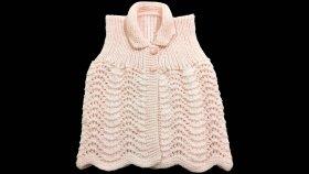 Deniz Dalgası Örgü Modeli Kız Bebek Yeleği Nasıl Yapılır ? ( Baştan Sona Anlatım ) - knitting