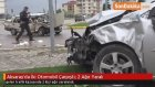 Aksaray'da İki Otomobil Çarpıştı : 2 Ağır Yaralı