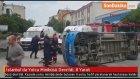 İstanbul'da Yolcu Minibüsü Devrildi : 8 Yaralı