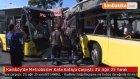 Kadıköy'de Metrobüsler Kafa Kafaya Çarpıştı : 3'ü Ağır 25 Yaralı