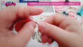 Havlu Kenarı Uğur Böceği Motifi