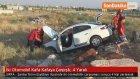İki Otomobil Kafa Kafaya Çarpıştı : 4 Yaralı