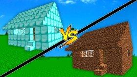 ELMAS EV VS TOPRAK EV ! ( Minecraft )