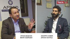 Afsad Başkanı Bekir Özerdem , Sigorta Sektörü'nün 2016 Yılını Sigorta Haber'de Değerlendirdi.