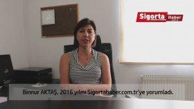 Tüsiar Başkanı Binnur Aktaş , Sigorta Sektörü'nün 2016 Yılını Sigortahaber.com.tr'ye Değerlendirdi.
