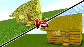 SÜNGER EV VS SAMAN EV ! ( Minecraft )