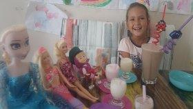 Dondurma Kokteyl , Maşa barbie elsa elife ziyarete geliyorlar