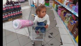 Elif ile A101 sek sek halı alışverişi , eğlenceli çocuk videosu