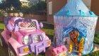 Elsa çadır bahçede , elif elsa anna olaf piknik yapıyorlar , eğlenceli çocuk videosu