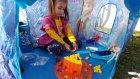 Elif Elsa ve Anna çadırda oyun oynuyor , eğlenceli çocuk videosu