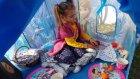 Elsa çadır bahçede , anna elsa elif piknik yapıyor , eğlenceli çocuk videosu