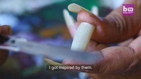 Sanatını Tırnaklar Üzerine İşleyen Ressam
