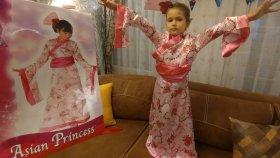 ELİFE YENİ KİMONO KOSTÜM , Elif Asya prensesi oluyor , Eğlenceli çocuk videosu