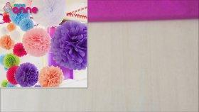 Krapon Kağıdı ile Çiçek Yapımı - Çok Güzel Süsleme Fikri - DIY