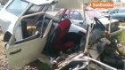 Kütahya'da Kontrolden Çıkan Araç Refüje Çarptı : 4 Ölü