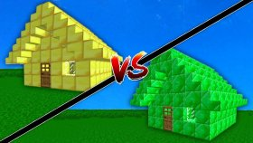 ZÜMRÜT EV VS ALTIN EV ( Minecraft )
