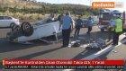 Başkent'te Kontrolden Çıkan Otomobil Takla Attı : 1 Yaralı