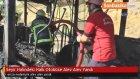 Seyir Halindeki Halk Otobüse Alev Alev Yandı