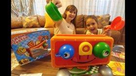 Çılgın Tostçu oynadık , elif mi lera mı kim kazandı ? ? Eğlenceli çocuk videosu , toys unboxing