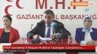"""MHP Gaziantep İl Başkanı Muhittin Taşdoğan : ( Uyuşturucu Çağrısı ) """"Öncelikle Bu Gençlerimizi Bu."""