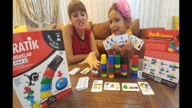 Pratik bardaklar REDKA Bardak dizmece oynadık , zeka ve konsantrasyon geliştirici oyun , toys unboxing